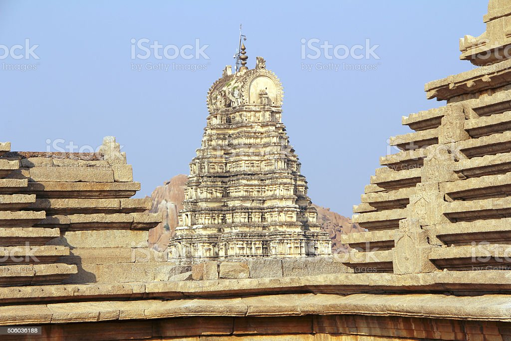 Virupaksha temple in Hampi, India stock photo