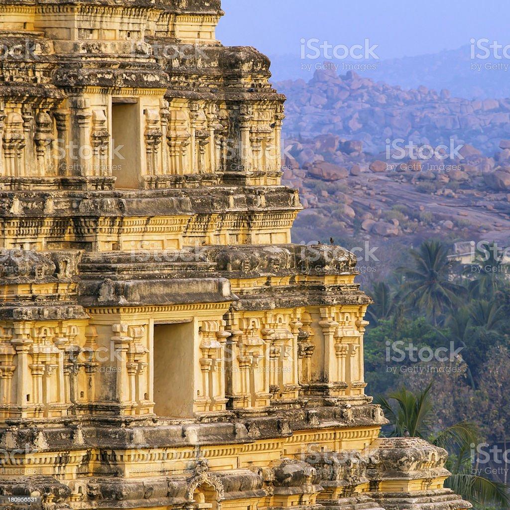 Virupaksha Temple in Hampi, Karnataka, India stock photo