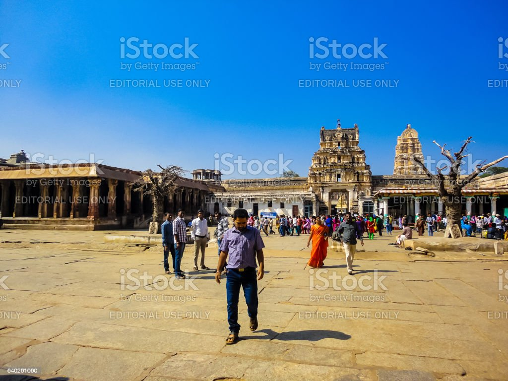 Virupaksha temple in India stock photo