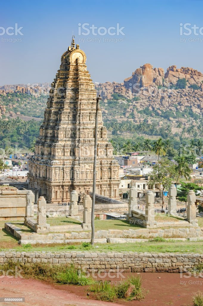 Virupaksha Temple inHampi, India stock photo