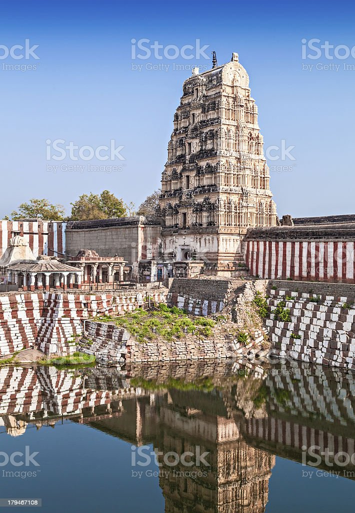 Virupaksha temple royalty-free stock photo