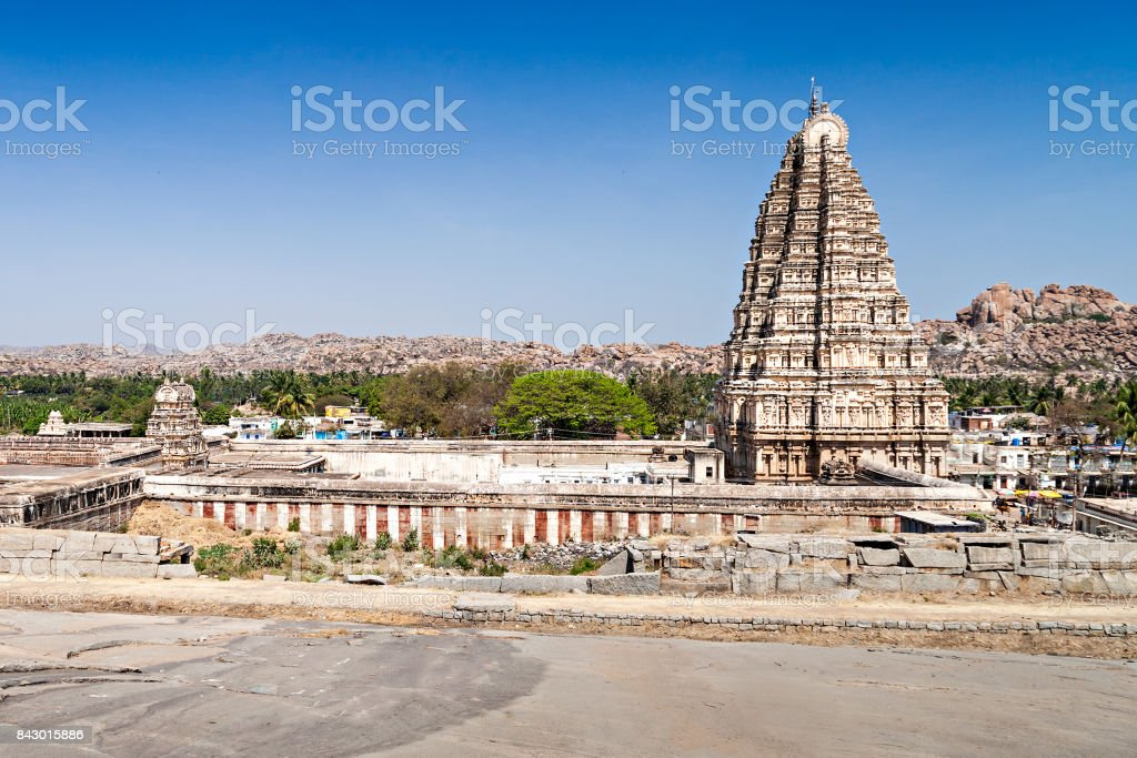 Virupaksha temple stock photo