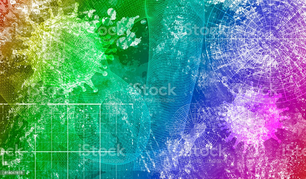 Virus abstract model stock photo