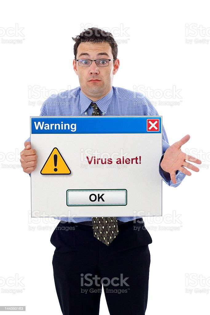 Virus alert royalty-free stock photo