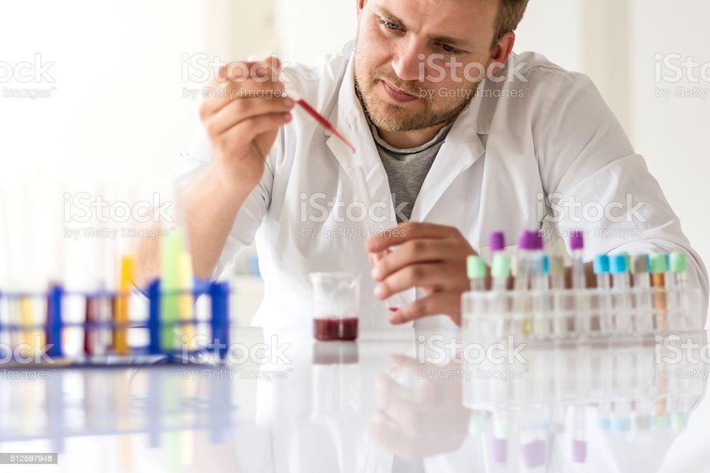 Virus analysis stock photo