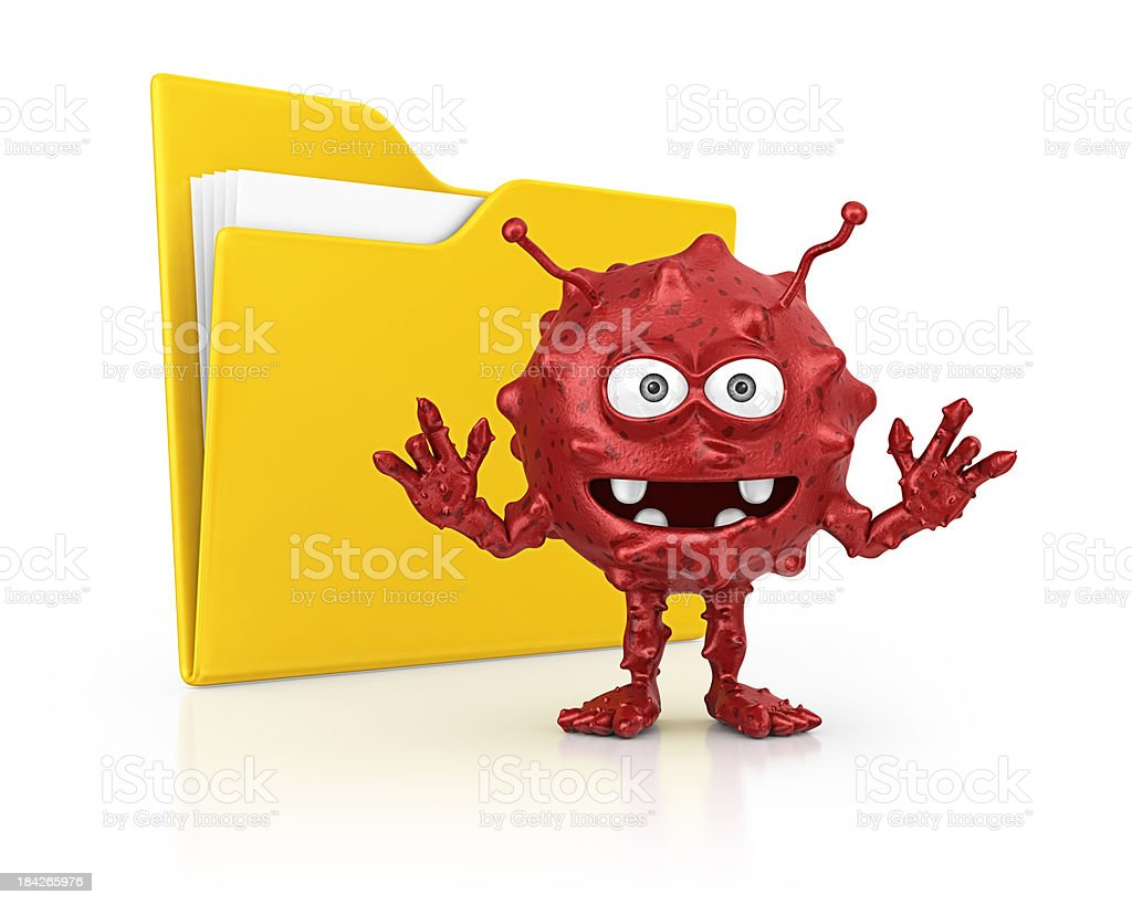 virus and file royalty-free stock photo