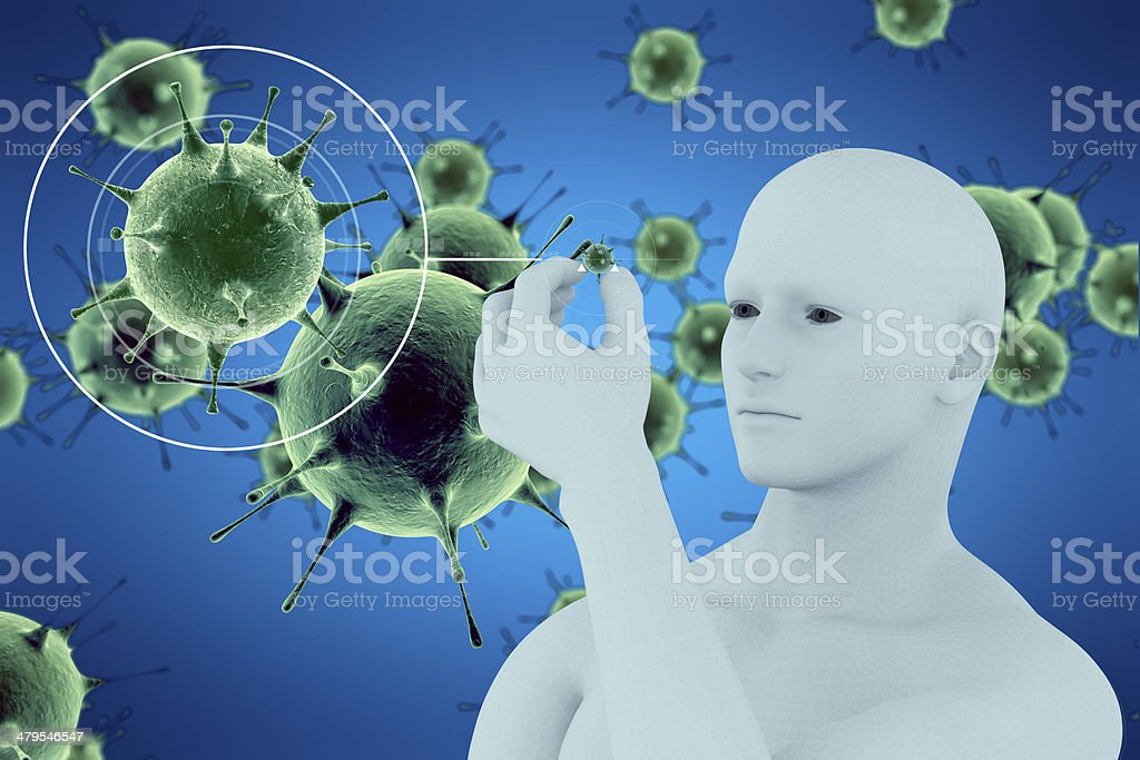 virus and human royalty-free stock photo