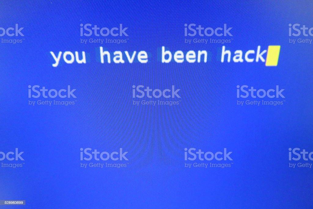 Virus attack stock photo