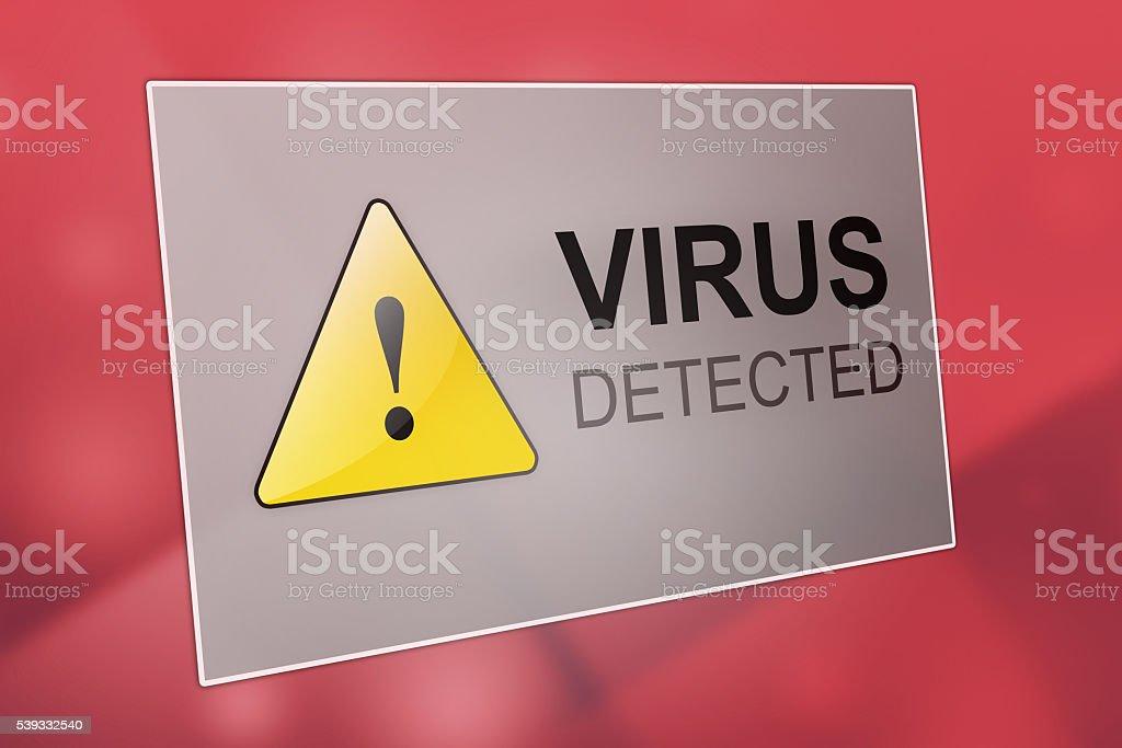 Virus detected stock photo