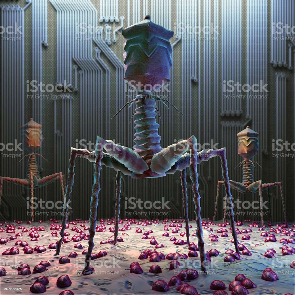 virus electronic stock photo