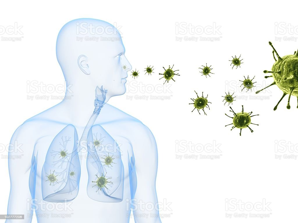 virus infection royalty-free stock photo