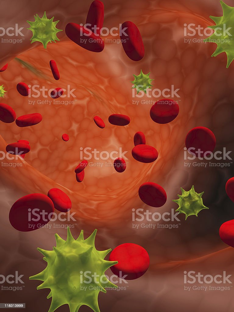 Virus infection stock photo