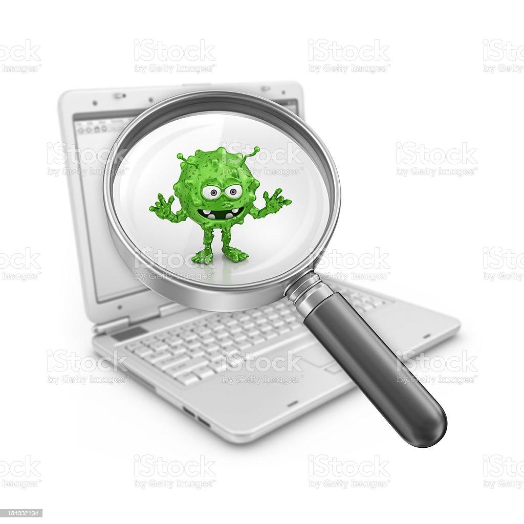 virus internet search royalty-free stock photo