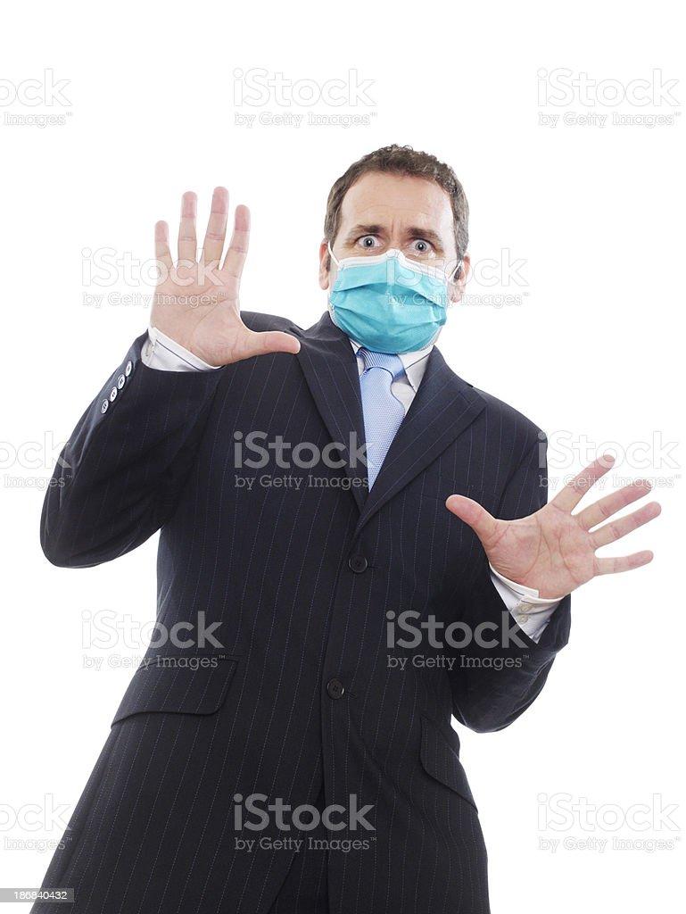 Virus paranoia stock photo