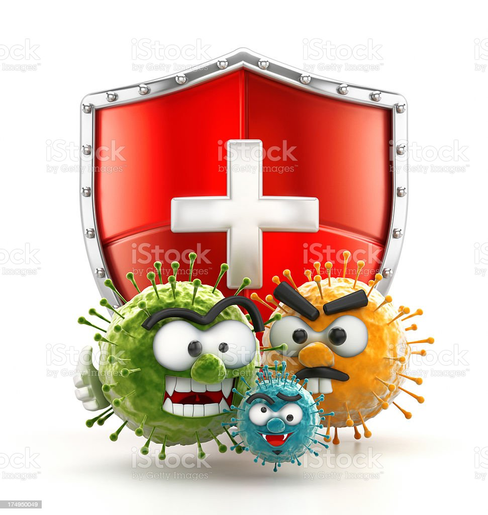 Virus protection stock photo