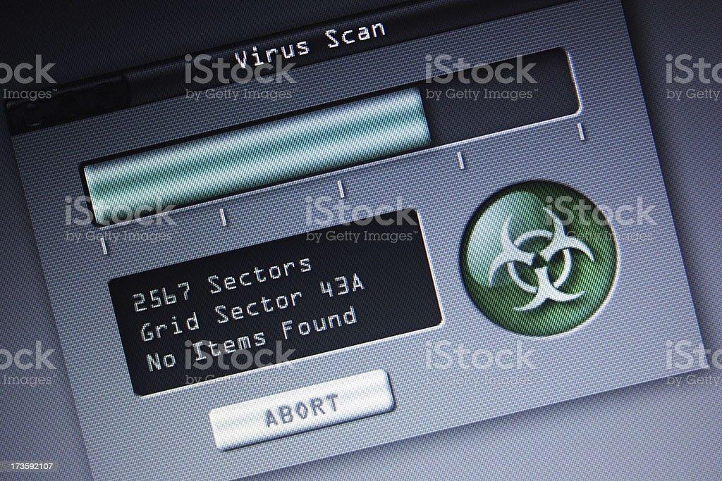 Virus Scan stock photo