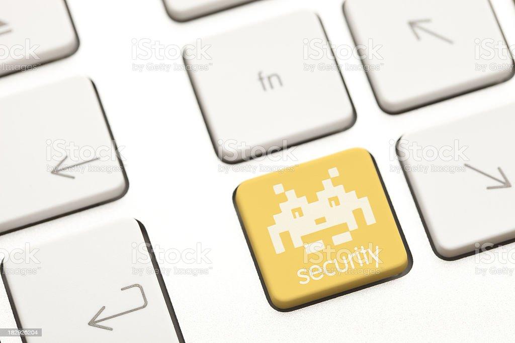 Virus security computer key royalty-free stock photo