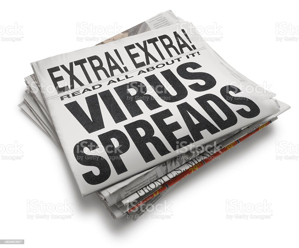 VIrus Spreads royalty-free stock photo