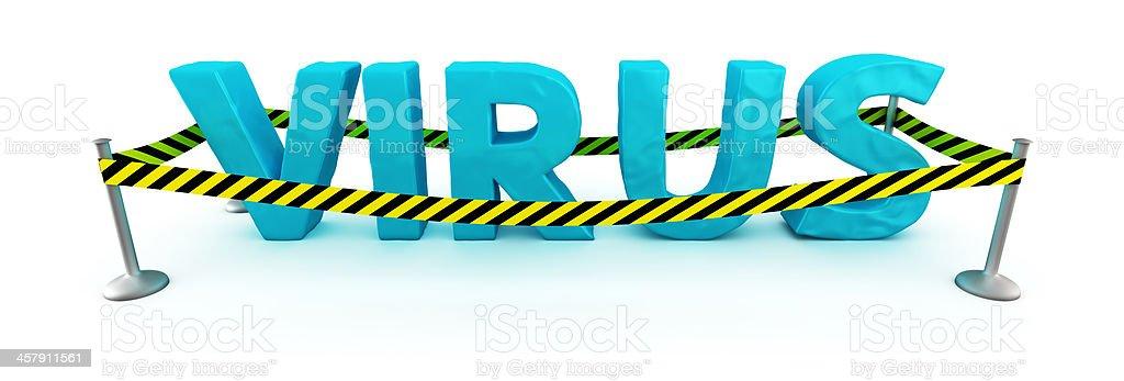 Virus zone royalty-free stock photo
