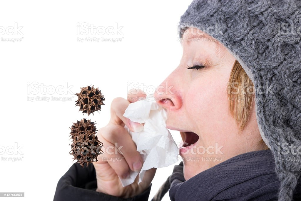 Viruses in the air stock photo