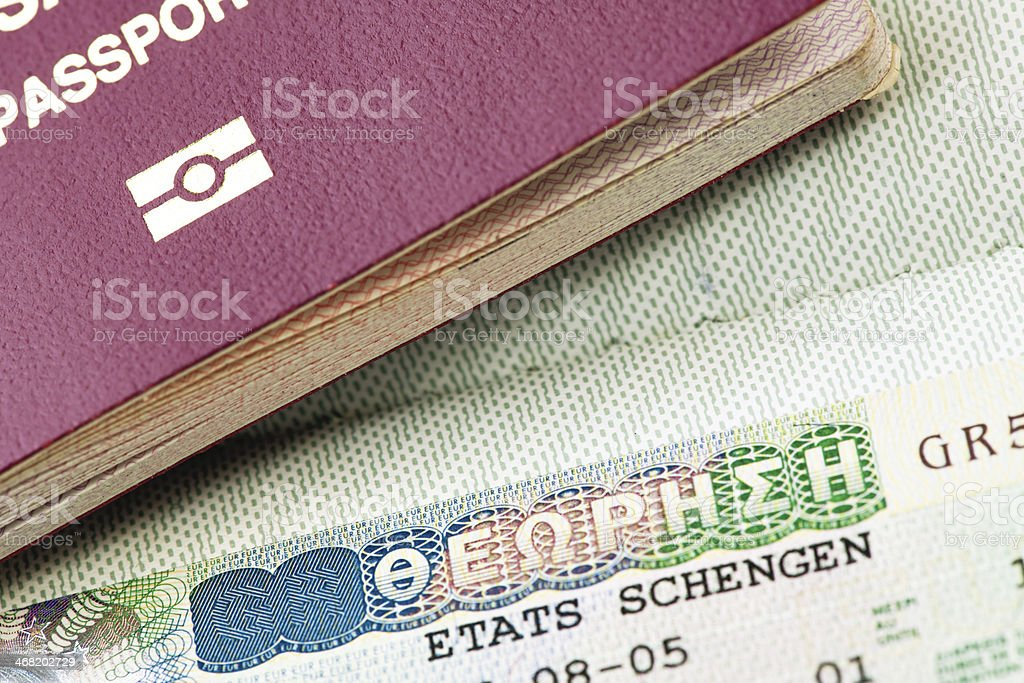 Visa and Passport stock photo
