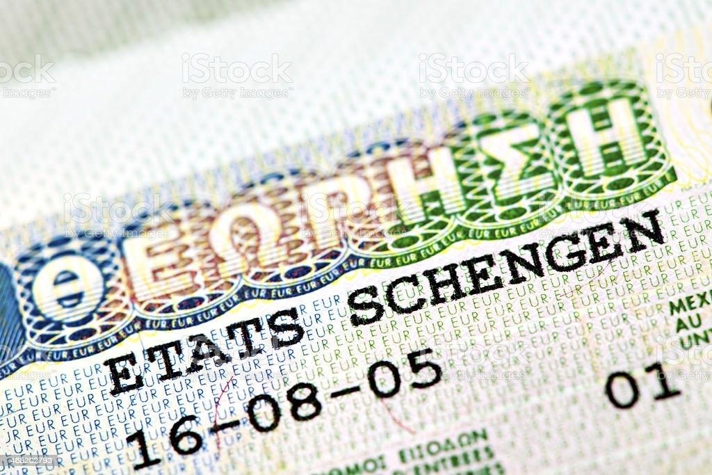 Visa and Passport royalty-free stock photo