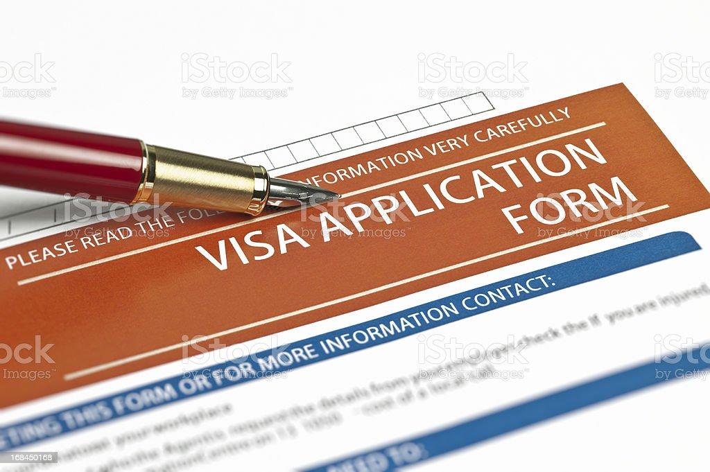 Visa Application Form stock photo