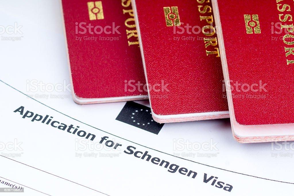 visa application, passports stock photo