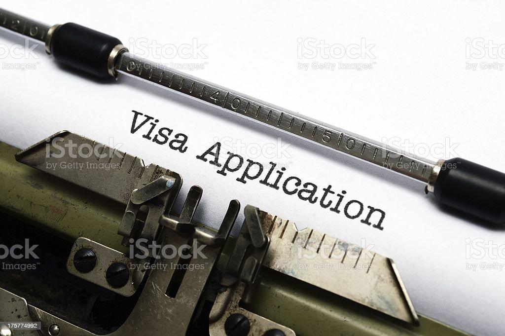 VIsa application stock photo
