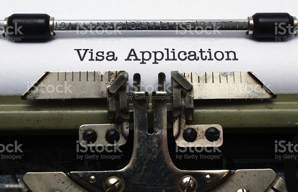 Visa application royalty-free stock photo