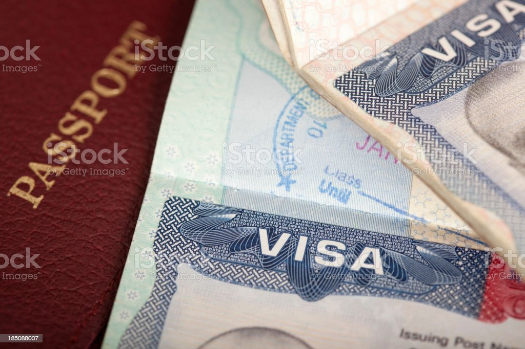 visa background royalty-free stock photo