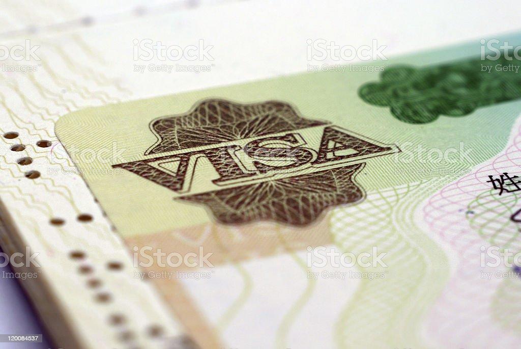Visa stock photo