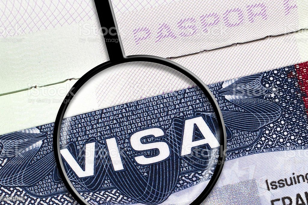 US Visa stock photo