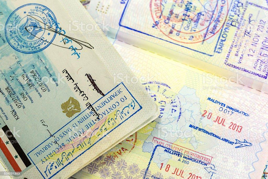 visa stamp stock photo