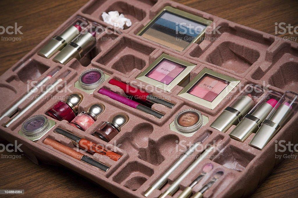 Visagiste make-up set royalty-free stock photo