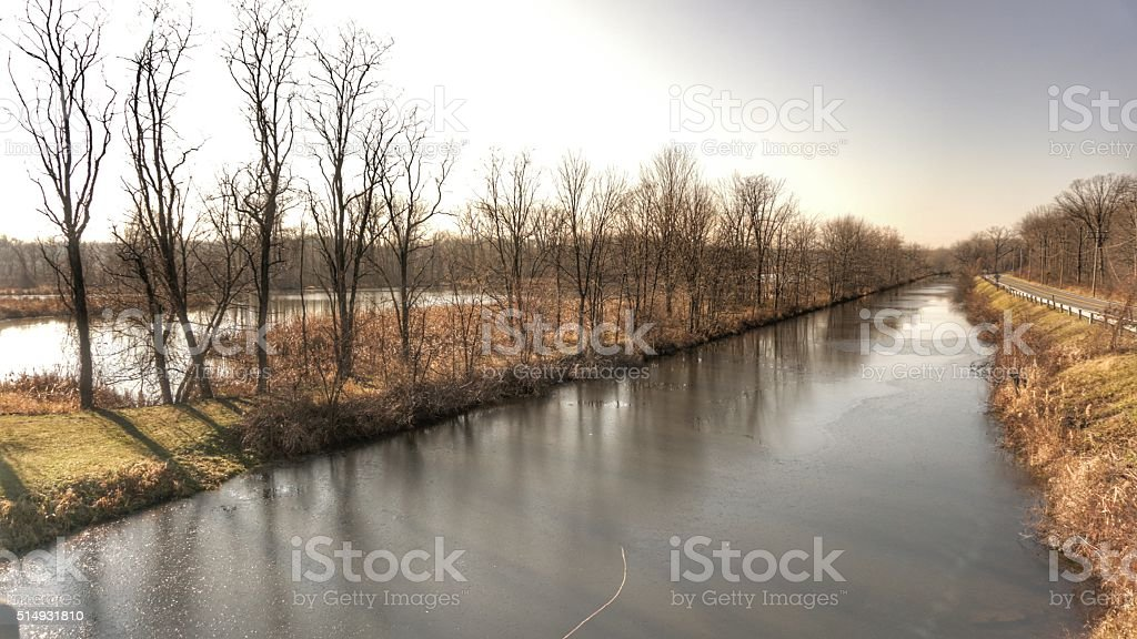 Vischer Ferry Nature Preserve, Wetlands Ecosystem, Rexford, NY stock photo