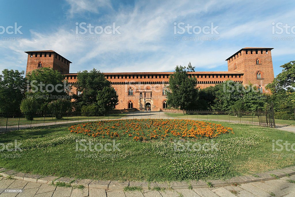 Castello Visconteo stock photo