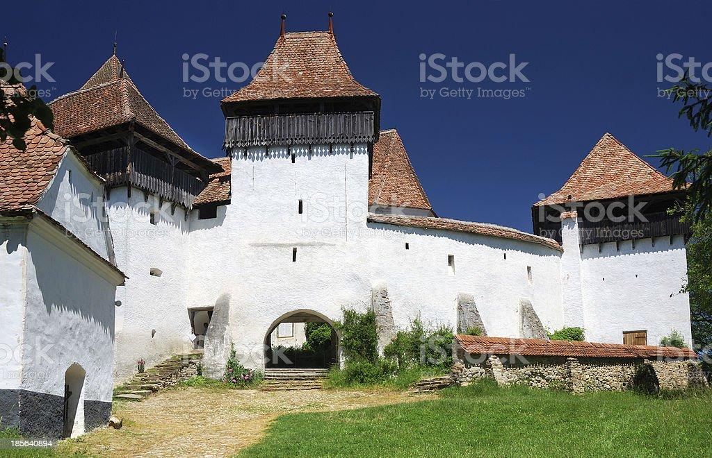 Viscri church, Transylvania, Romania royalty-free stock photo