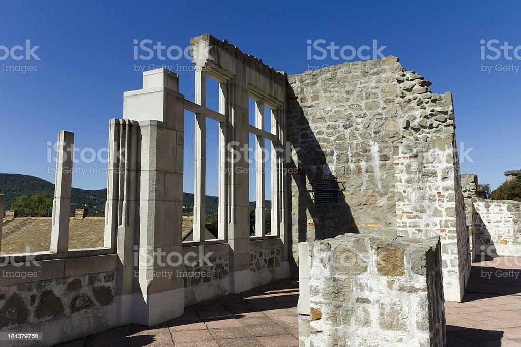 Visegrad castle stock photo