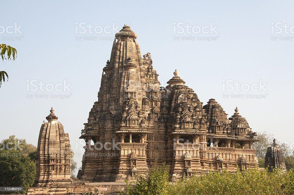 Vishvanatha temple, Khajuraho. stock photo