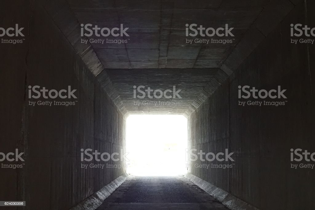 Visible light through the tunnel stock photo