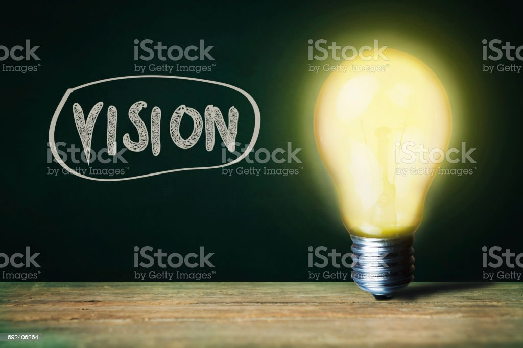 vision and bulb stock photo
