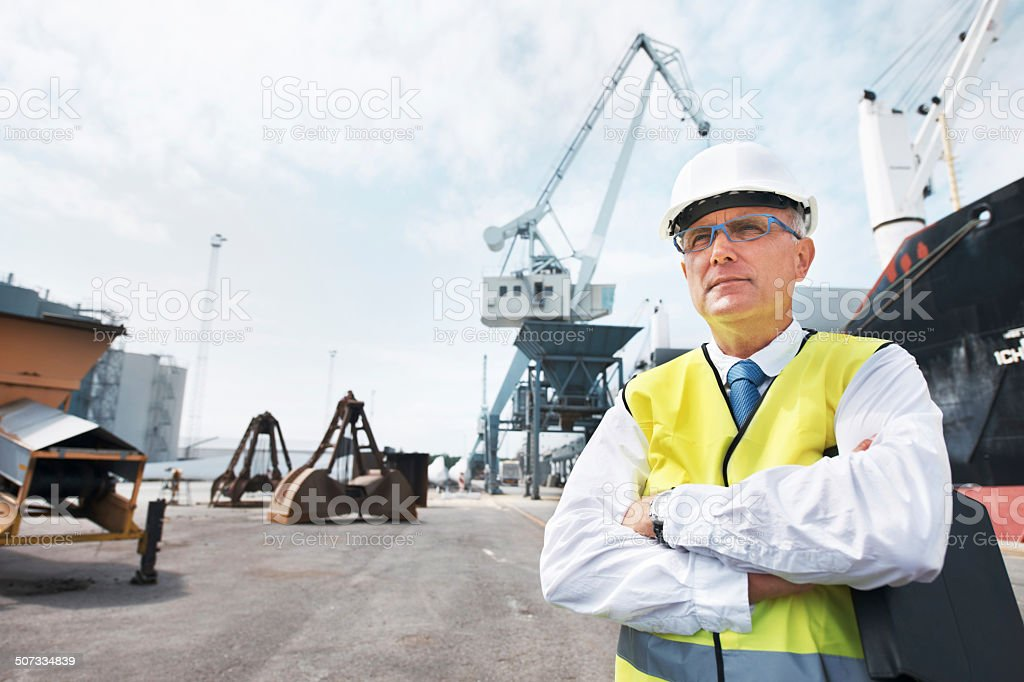 Vision and determination bring him great success! stock photo