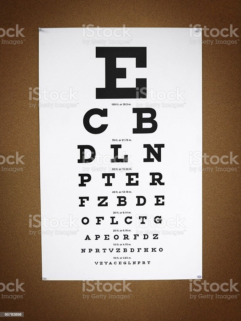 Vision Chart stock photo