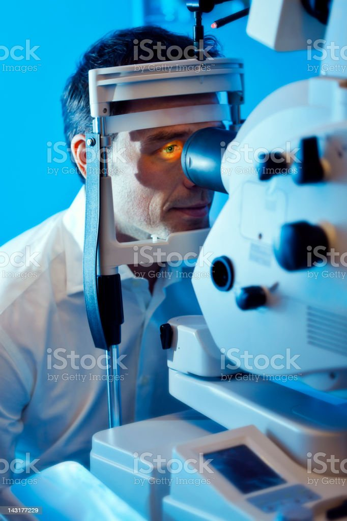 Vision: checking eyesight stock photo
