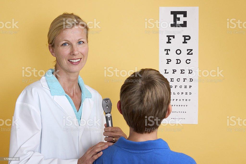 Vision Exam stock photo