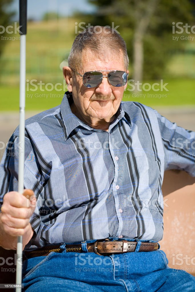 Vision Impaired Senior Man stock photo
