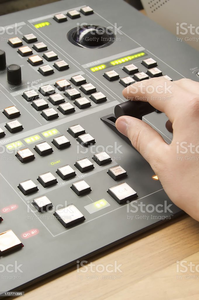 Vision mixer stock photo