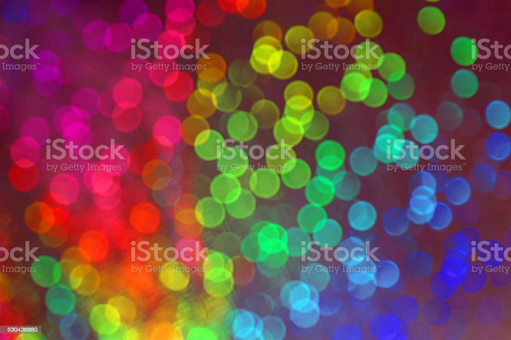 vision of many blurry dots with bokeh effect stock photo