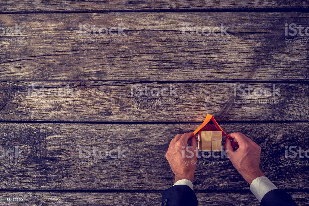 Vision of new home stock photo
